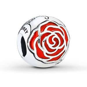 PANDORA, Belle's Enchanted Rose/St. Silver Charm